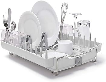 OXO Good Grips Convertible Foldaway Dish Rack (Stainless Steel)