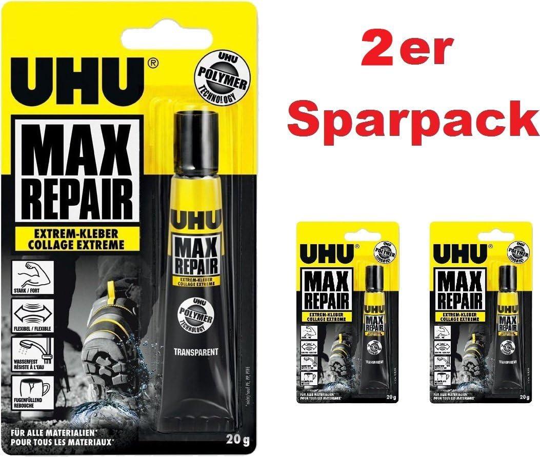 UHU 45820Max RepairColle extra forte, tube de 20g