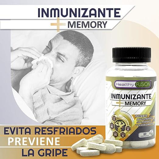 Potente y Completo Multivitamínico con Vitaminas C, E, B3, B5, A, B6, B2, B1, B9, B12, D3, Zinc y Hierro - Evita gripes y resfriados además de mejorar y ...