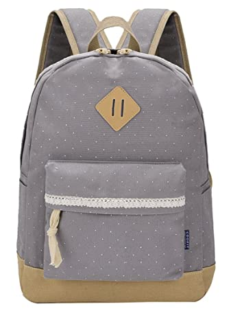 e1716c4d84 Canvas Backpack Vintage Polka Dot Sweet Lace Women s and Girl s Backpack  School Bag Travel Bag
