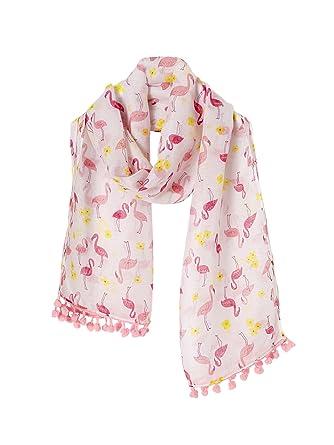 Vertbaudet Foulard fille imprimé flamants roses Imprimé rose TU ... 394e0a24f42