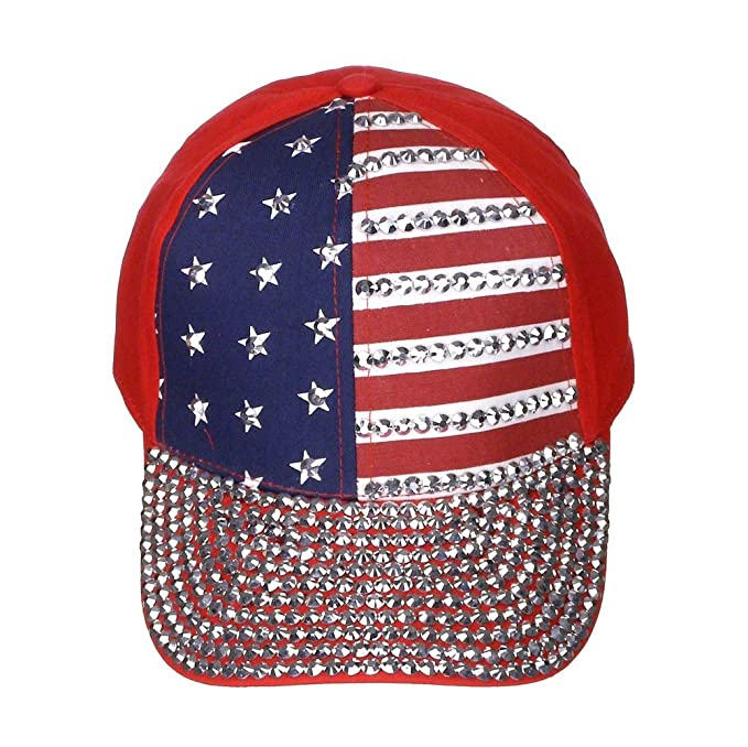 45446f5223c Image Unavailable. Image not available for. Color  USA Bling Baseball Cap