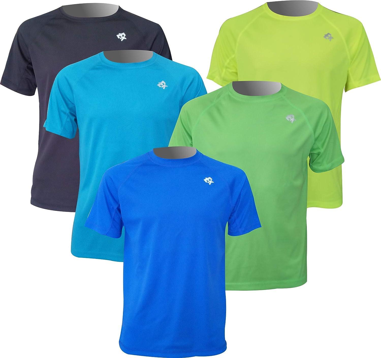 Pack 5 Unidades Camisetas Manga Corta Ekeko Offroad, Camisetas Poliester 100%. Multideportes. Running y Senderismo