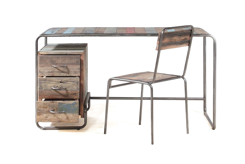 Mesa 150 x 70 x 76 Estilo Industrial de Madera de Barco Reciclado ...