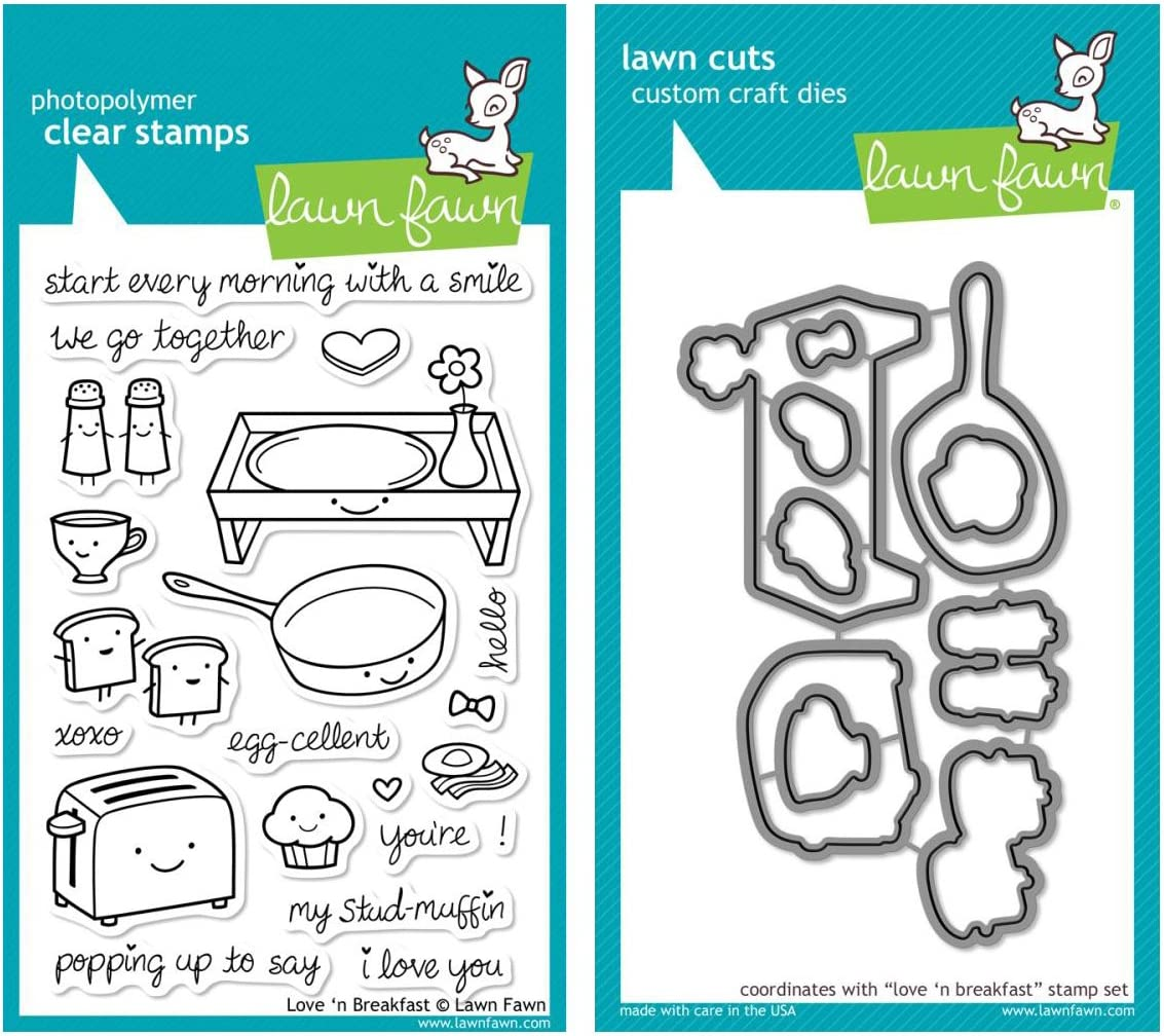 Lawn Fawn - Love 'n Breakfast - Clear Stamp and Die Set