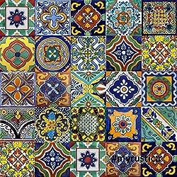 100azulejos de Talavera mexicano 4x 4Folk Art hecho a mano