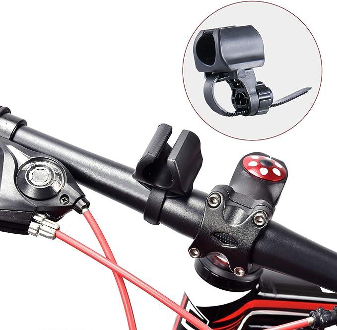 WUBEN Soporte de Linterna para Bicicleta, Ajustable, rápido de Instalar para diámetro 10-40mm linternas: Amazon.es: Deportes y aire libre