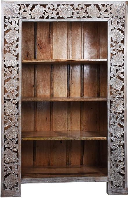 Estantería de madera maciza de mango de 186 cm de alto para ...