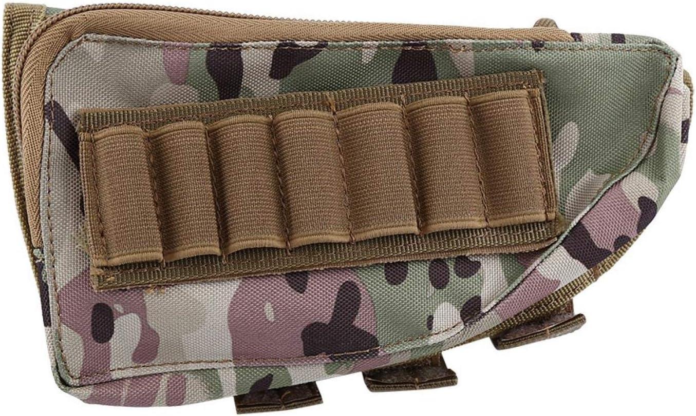 EVTSCAN Soporte de Carcasa de Escopeta de Nailon, 4 Colores de Escopeta de Nailon para Rifle de Caza, Culata de Escopeta, Bolsa de Descanso para mejillas, Almohadilla para mejillas de Rifle