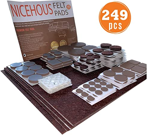 Amazon Com Nicehous Anti Scratch Furniture Felt Pads Premium Best