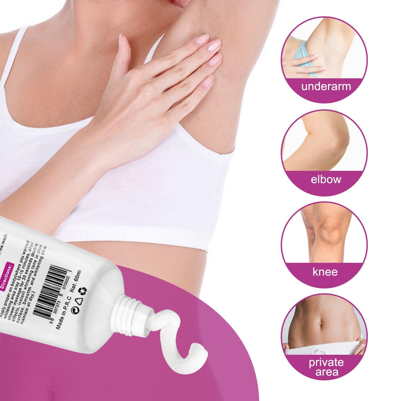 Natural Underarm Whitening Cream, Armpit Lightening & Brightening Deodorant Cream, Body Creams, Underarm Repair Whitening Cream Between Legs Knees Sensitive Areas 60g by ALIVER (Image #3)