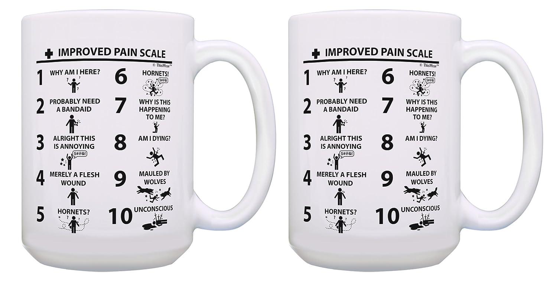 看護婦医者Practitionerギフト面白いギフトImproved痛み医師スケールアシスタントギフトコーヒーマグティーカップ 2 15 oz White B07C9HHR5S