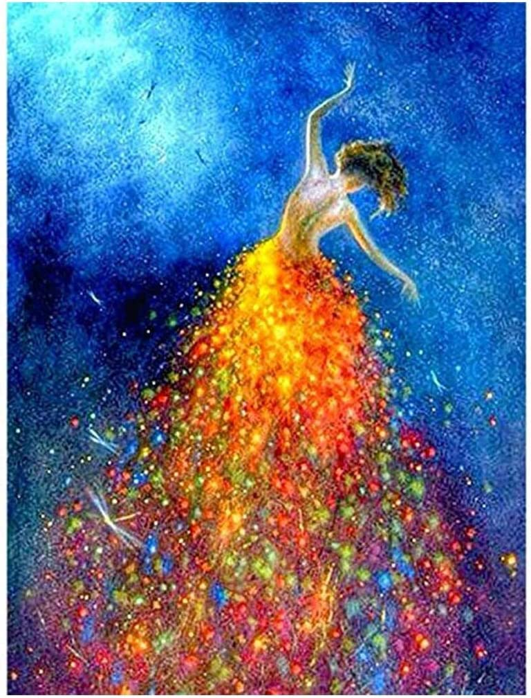 CANDYL DIY Paint by Number Beauty Girl Paint by Numbers Kits for Kids Adults Students Beginner Canvas Painting Acrylic Oil Painting Arts Craft for Home Wall Decoration Beautiful Girl Dancer 16x20 Inch