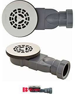 90 Degree Low Profile Shower Drain.Slim Shower Trap Diameter 90 Super Flat With Cup Connection Dn 50