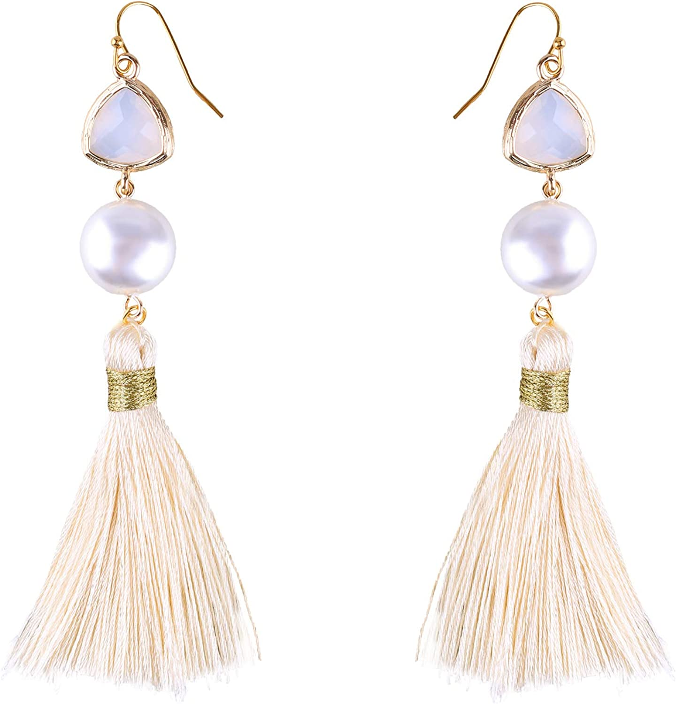 Yellow tassel earrings Pink tassel earrings Fringe Summer jewelry Bright earrings yellow pink earrings gift for daughter Bohemian earrings