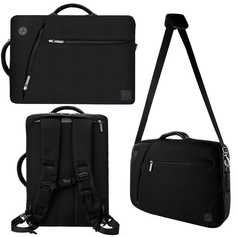 5216a6ca3e85 11.6-13.3 Inch Laptop Shoulder Messenger Bag Computer Backpack Fit HP,  Lenovo, Dell, Apple, Acer, Asus, Samsung, LG, Huawei, Black