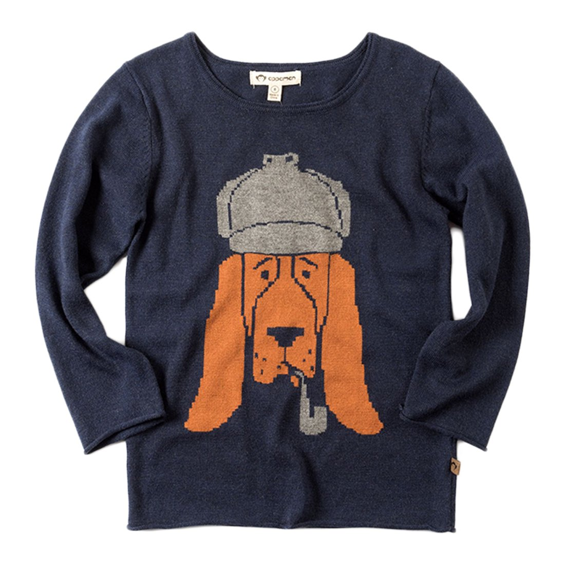 Appaman Big Boys' Bromley Bloodhound Sweater in Peacoat Blue 8