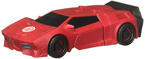 Transformers Robots in Disguise Combiner Force 1 Step Changer Sideswipe, Red Bendables at amazon