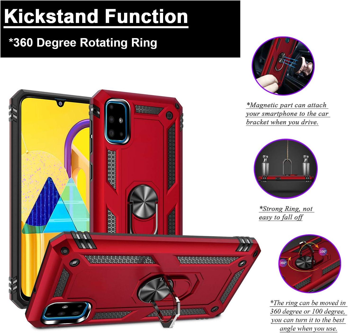 BaiFu Funda Tough Armor para Samsung Galaxy A71 Carcasas Dura con 360 Degree Anillo Kickstand Antigolpes Tapa Trasera para Samsung Galaxy A71-Azul: Amazon.es: Electrónica