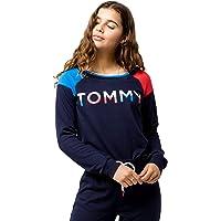 Tommy Hilfiger Women's Long Sleeve T-Shirt Pajama Top Pj