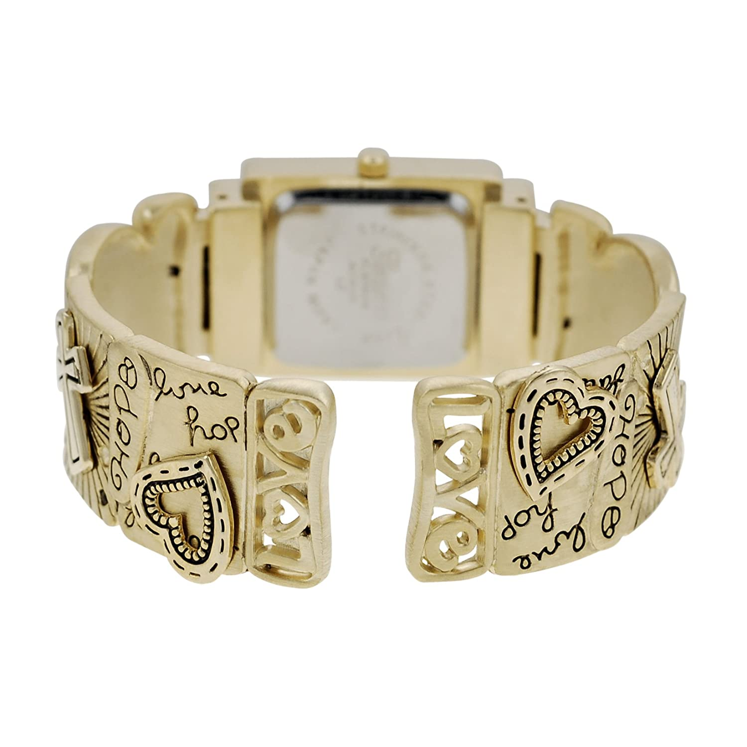 Amazon.com: Geneva Platinum Womens Faith Hope Love Cuff ...
