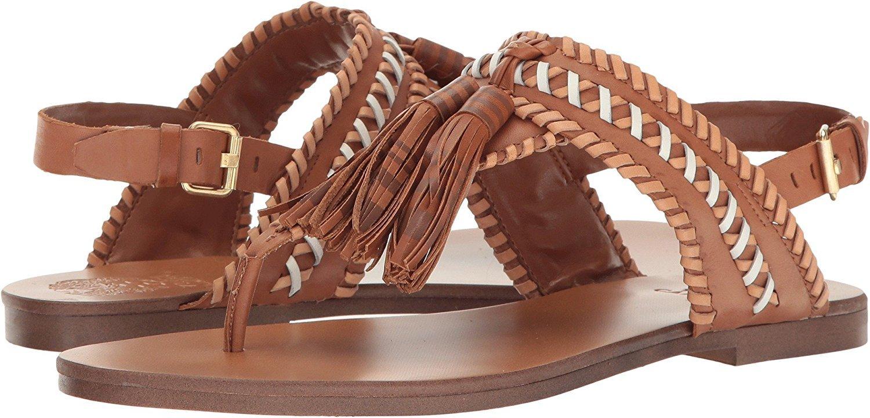Vince Camuto Women's Rebeka Flat Sandal B01N75XR6S 5 B(M) US|Whiskey Barr New Vachetta Silky Leather New