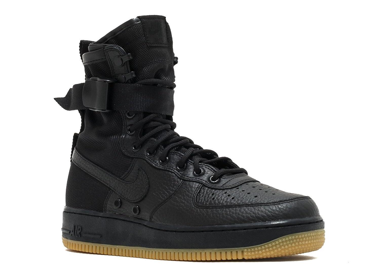 Nike Herren Herren Herren SF Air Force 1 Mid Schwarz Leder Synthetik Turnschuhe B06W2N7747   Ausgezeichnetes Preis  15399f
