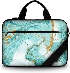 11.6-12 13 13.3-inch Laptop Shoulder-Bag - Canvas Computer Tablet Carrying Case 13-13.3 inch Notebook Briefcase (Green Ocean)