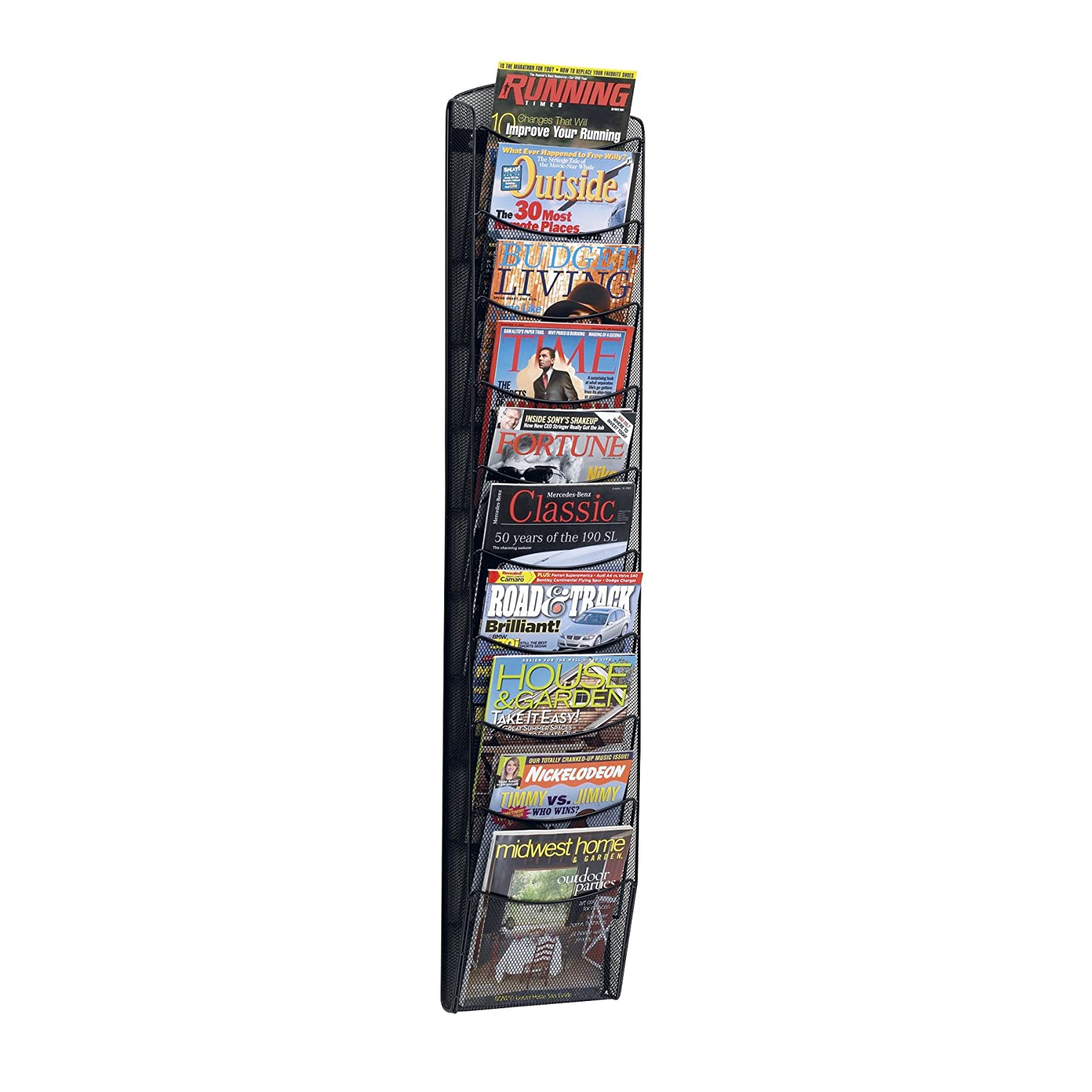 Merveilleux Amazon.com : Safco Products 5579BL Onyx Mesh Magazine Wall Rack, 10 Pocket,  Black : Literature Organizers : Office Products