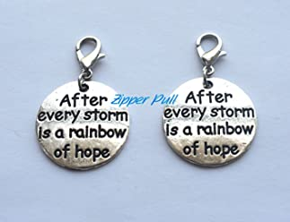Zipper Charm Clip on Charm,Backpack Charm Everything Happens for a Reason Zipper Charm,Zipper Pull Purse Charm Clip On Charms,Lobster Claw Charm for Link Bracelets and Necklaces