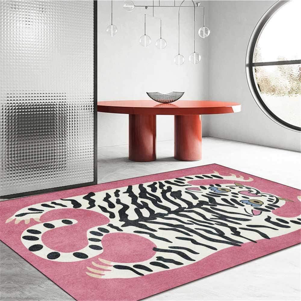 Bonita y moderna alfombra con diseño de tigre, diseño de animales de dibujos animados, para sala de estar, dormitorio, mesita de noche, sofá, guardarropa, silla, alfombra, habitación de niños, alfomb