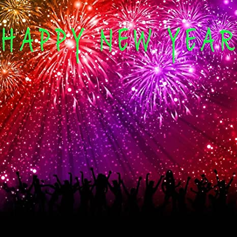 gladsbuy new years fireworks 8 x 8 computer printed photography backdrop new year celebration