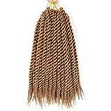 "6 Packs 1cm 12 roots/pack 14"" 80g havana mambo twist crochet braid hair extension ombre braiding hair synthetic hair xpression braids"