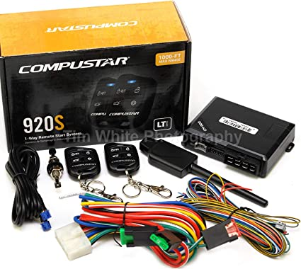 Amazon Com Compustar Cs920 S 920s 1 Way Remote Start And Keyless Entry System With 1000 Ft Range