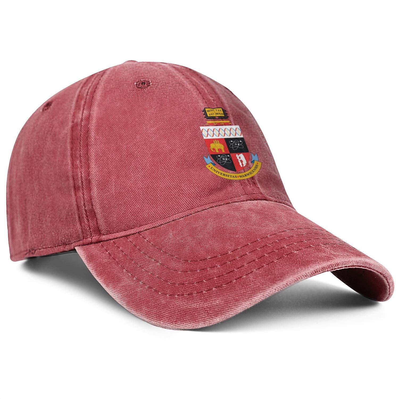 ZHENGJC Girls Washed Baseball Cap University-of-Warwick-Emblem-Basic Adjustable Outdoor Hat