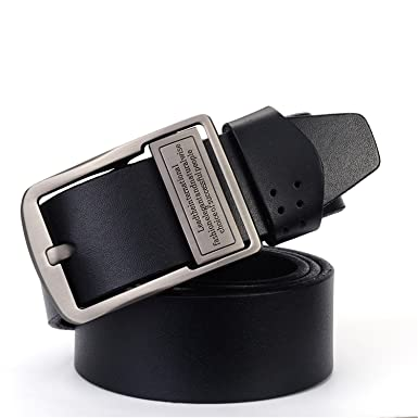 Leather Belts for MenStrap Male Pin Buckle Vintage Cowboy Jeans Cintos  Designer Waist Belt ZK808A 105cm eddb9bad319