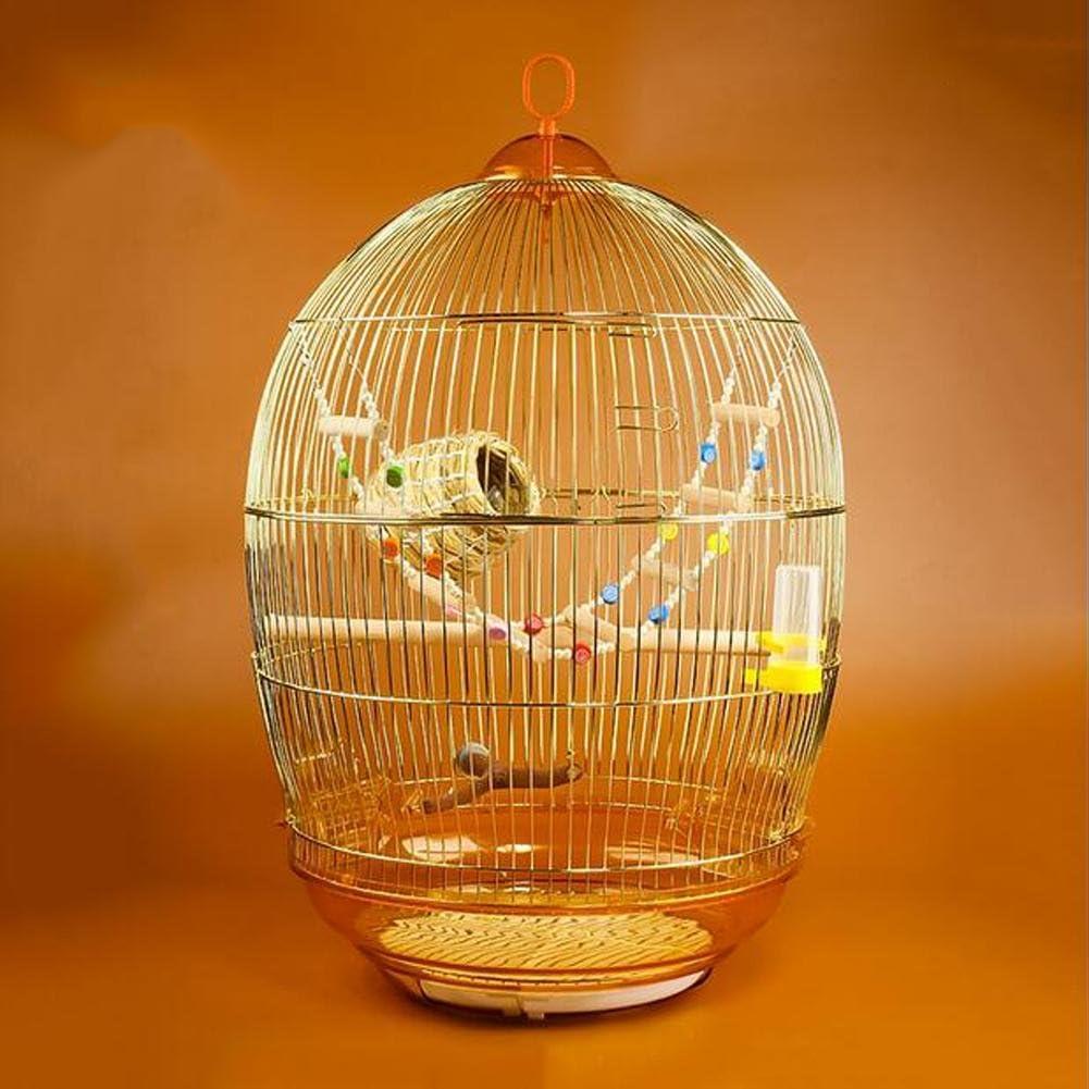 JiaYue Luxury100 de Alta Temperatura de Cromo de Chapa de Metal Jaulas para Pájaros de Oro de Color Pequeño 47x76CM, Golden Color, Set 3