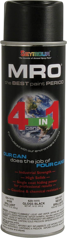 Seymour 620-1415 Industrial MRO High Solids Spray Paint, Gloss Black
