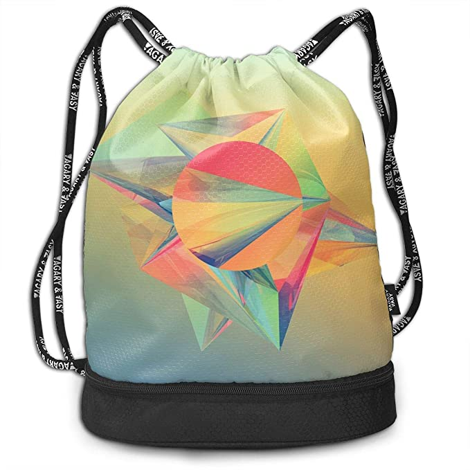 172286f902 Image Unavailable. Image not available for. Color  Simple Shapes Outdoor  Bundle Backpack Drawstring Backpack Bags Pack Travel Sport Gym Sack Bag for  Men
