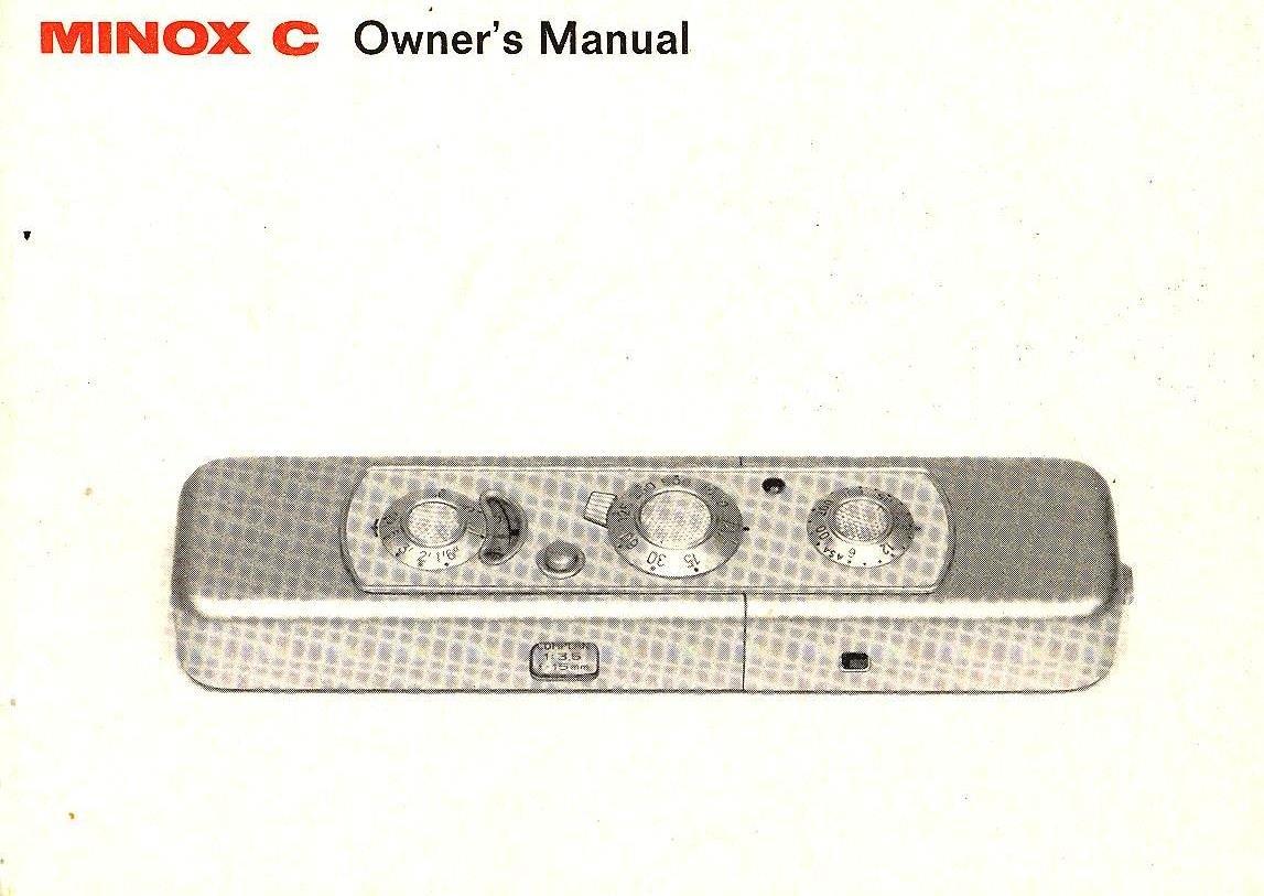 Original Instruction Manual 1969 MINOX C