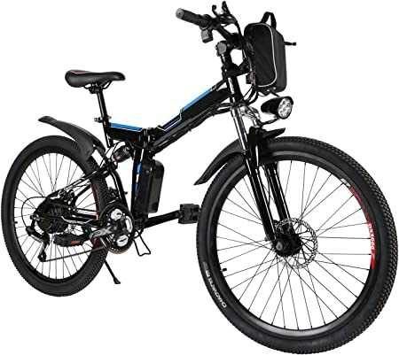 side facing kemanner 26 inches folding electric bike
