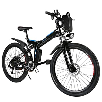 Edited eléctrico – Bicicleta plegable (26 pulgadas S de bicicleta plegable plegable Mountain Bike,
