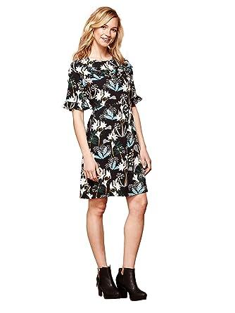 3344fab823527 YUMI Snowdrop Print Ruffle Dress: Amazon.co.uk: Clothing