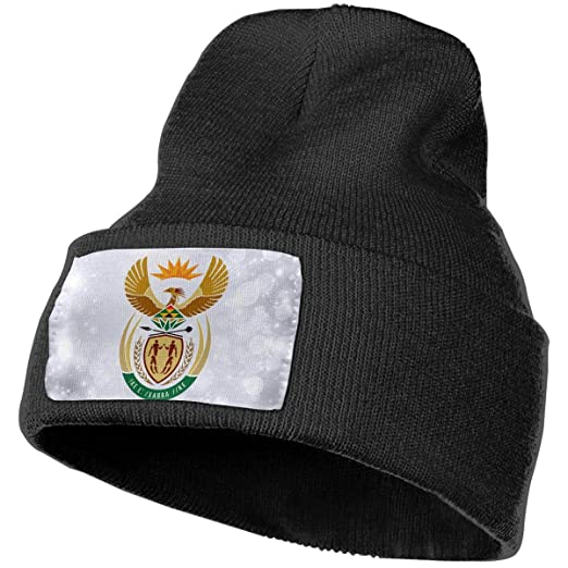 JimHappy South Africa Coat of Arms Hat for Men and Women Winter Warm ... e88a8aa01a1