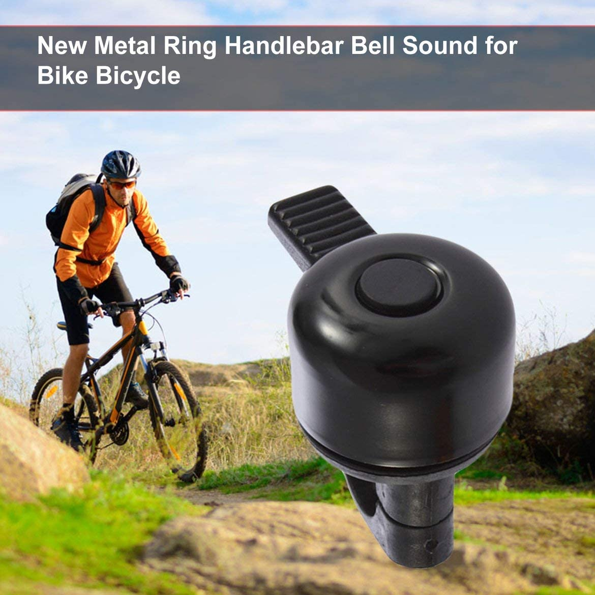 New Metal Ring Handlebar Bell Sound for Bike Bicycle black color loud sound fashionable malfunctioned JohnJohnsen
