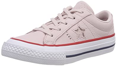 88636e5ae429 Converse Unisex Kids  One Star Ox Barely Rose Gym Red White Trainers ...