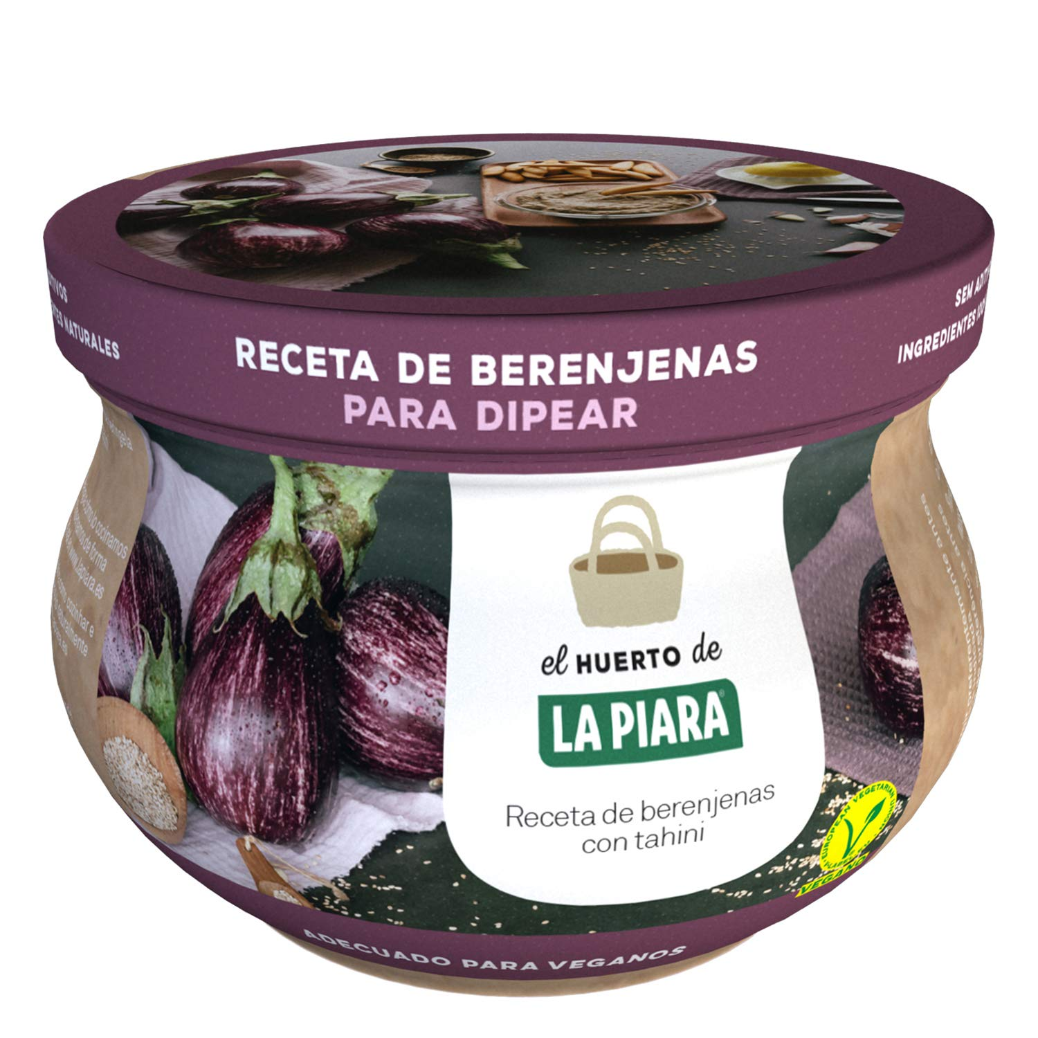 Amazon.com: La Piara Eggplant and Tahini Dip - 3 Pack - Made in Spain - Toppings & Party Dips