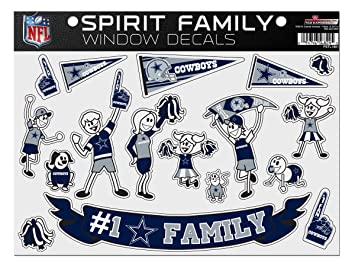 Amazoncom NFL Dallas Cowboys Spirit Family Window Decals - Window decals for sports