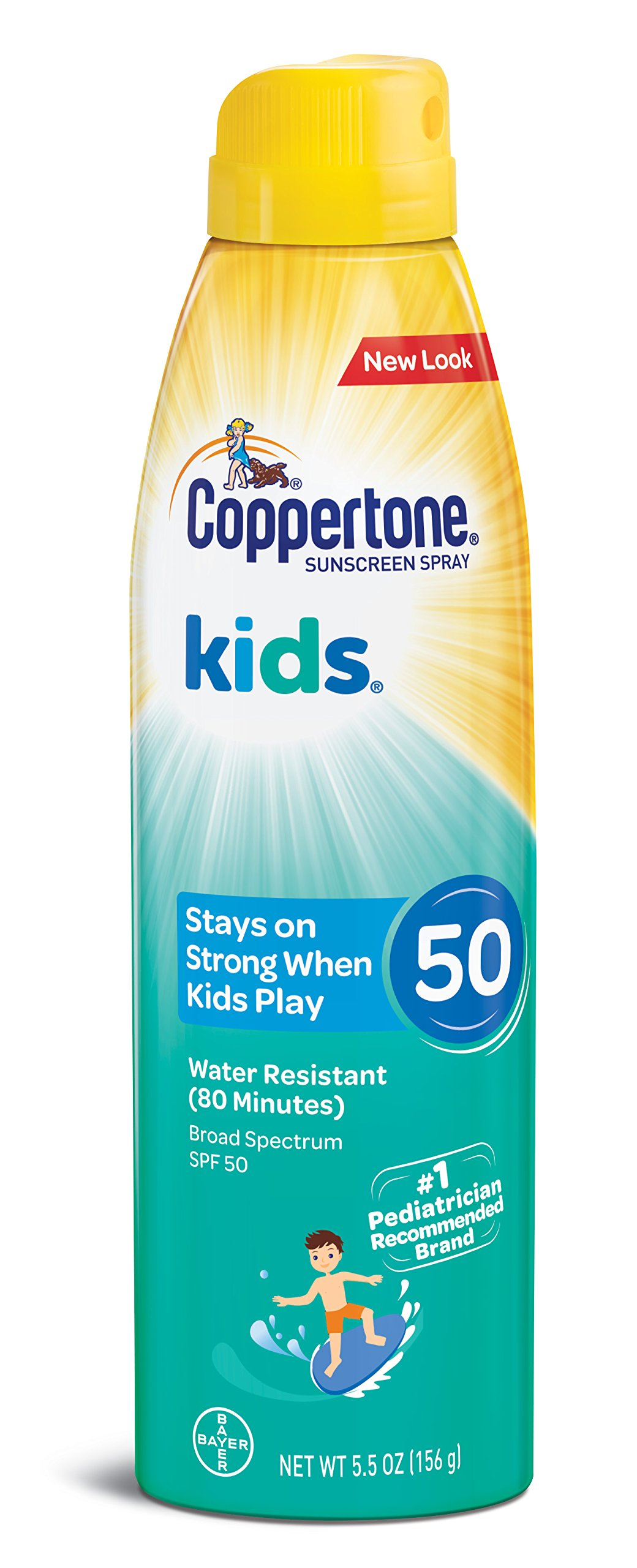 Coppertone KIDS Sunscreen Continuous Spray SPF 50 (5.5-Ounce)