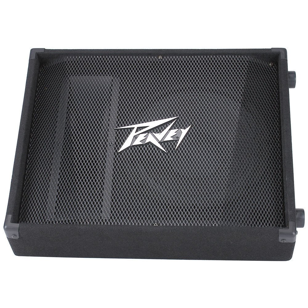 Peavey PV12M PV 12M 12'' 2-Way Passive Floor Stage Monitor Speaker PAIR w/ Cables by Peavey